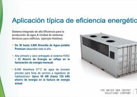 Aplicación típica de eficiencia energética